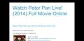 Watch  Peter Pan Live! (2014)  Full Movie Online